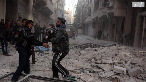 حمله هوایی جنگنده های روسیه در حلب 10 کشته برجای گذاشت