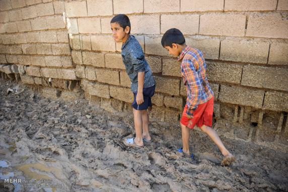 شهرستان شوش درمحاصره چندین روزه سیل/ گزارش تصویری
