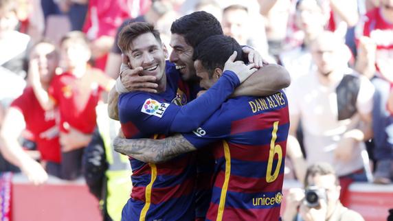 سوارز درخشید، بارسلونا قهرمان اسپانیا شد