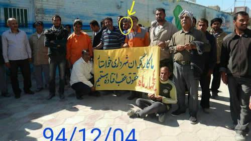 سومین کارگر شهرداری در الاحواز( اهواز ) خود را به آتش کشید