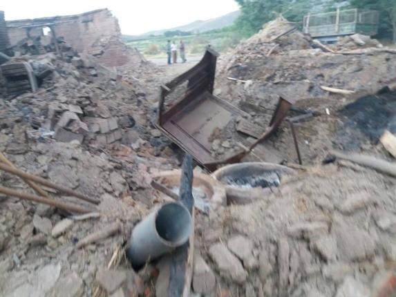 انتقام گیری سپاه پاسداران وتخریب یک روستا در پی کشته شدن 11 سپاهی در کردستان