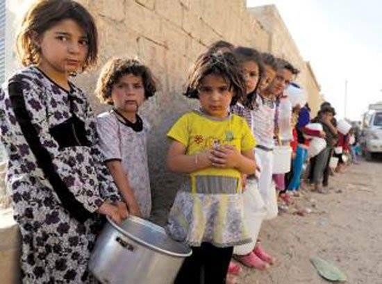 خطر گرسنگی، 400 هزار غیر نظامی را در حلب سوریه تهدید می کند