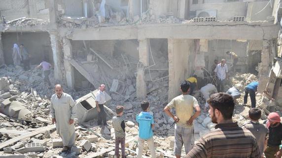حمله هوایی جنگندههای روسیه در حلب 25 کشته و زخمی برجا گذاشت