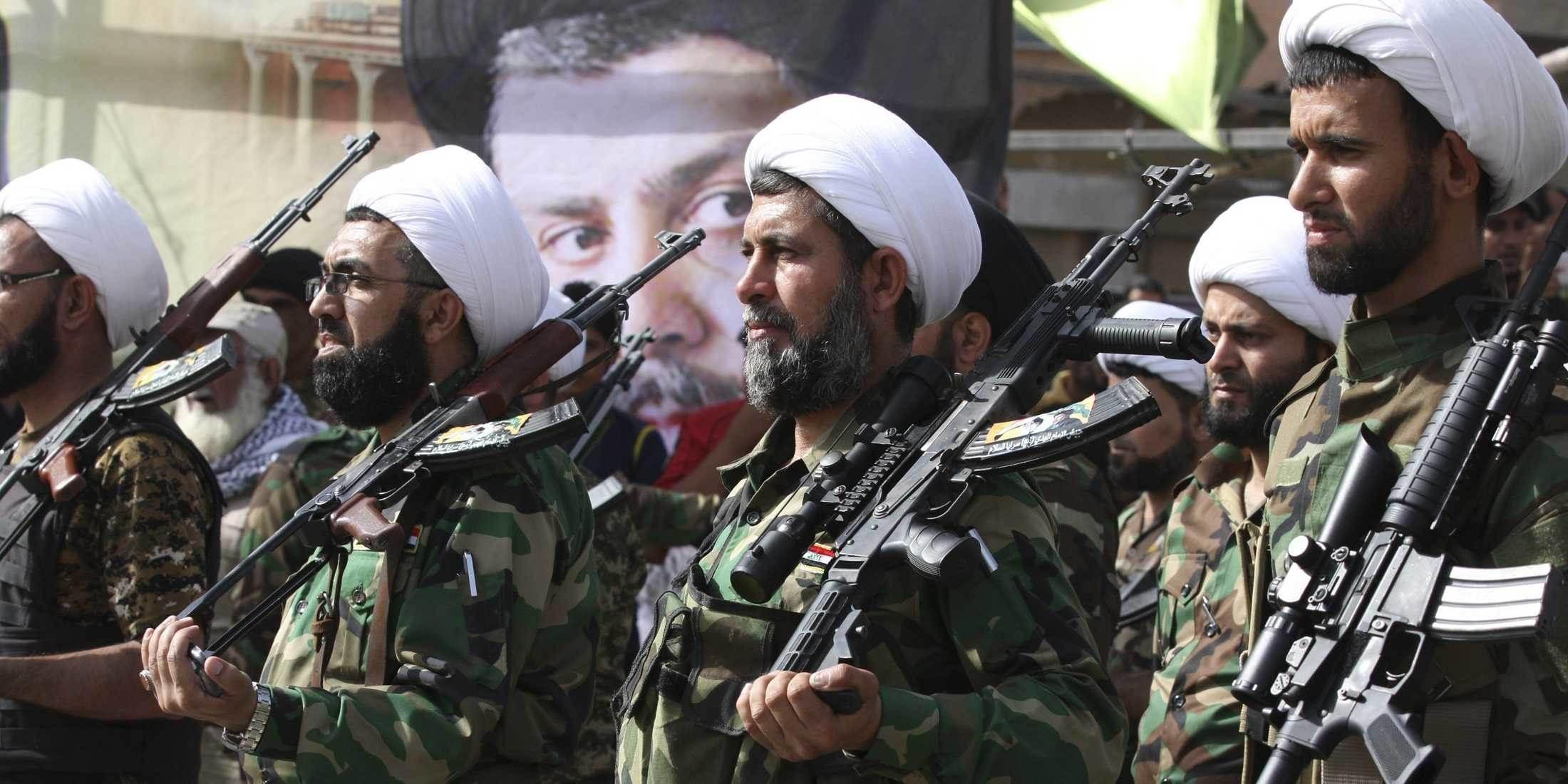 گروهی از آخوندهای مسلح در عراق