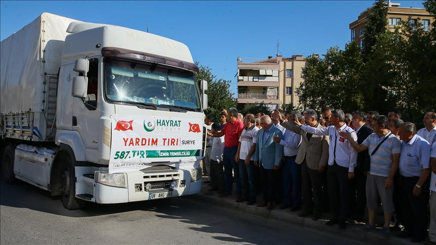 ارسال کمکهای بشردوستانه ترکیه به مردم جرابلس سوریه