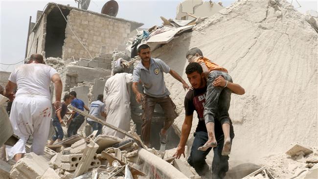 استخدام رژیم اسد وروسیه از گاز کلر در حلب