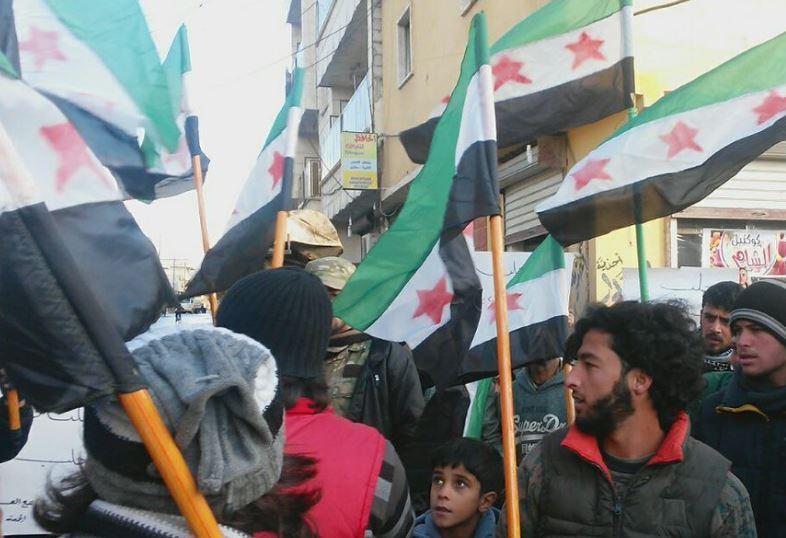 تظاهرات همبستگی با مردم حلب در بسیاری از پایتخت های جهان