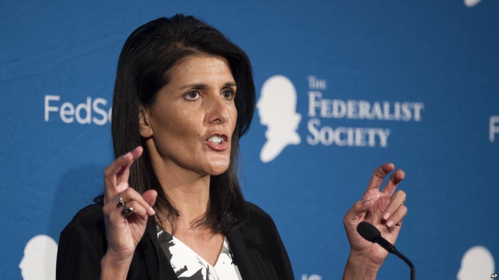 نیکی هیلی: رژیم ایران باید در کانون دستور کار سازمان ملل قرار گیرد