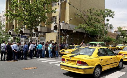 اعتراضات رانندگان تاکسی تلفنی در تهران