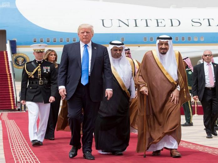 تصاویری از مراسم استقبال ملک سلمان از دونالد ترامپ