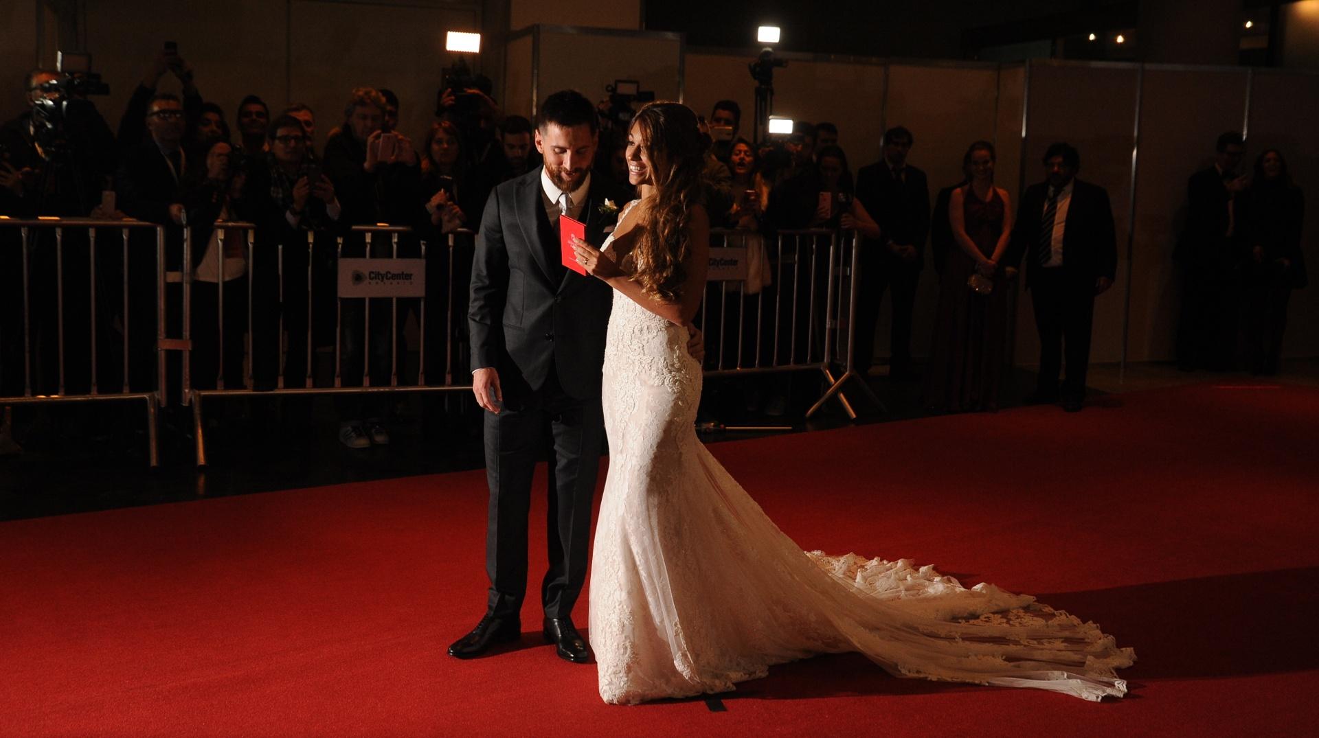 مراسم ازدواج مسی و دوست دخترش + تصاویر