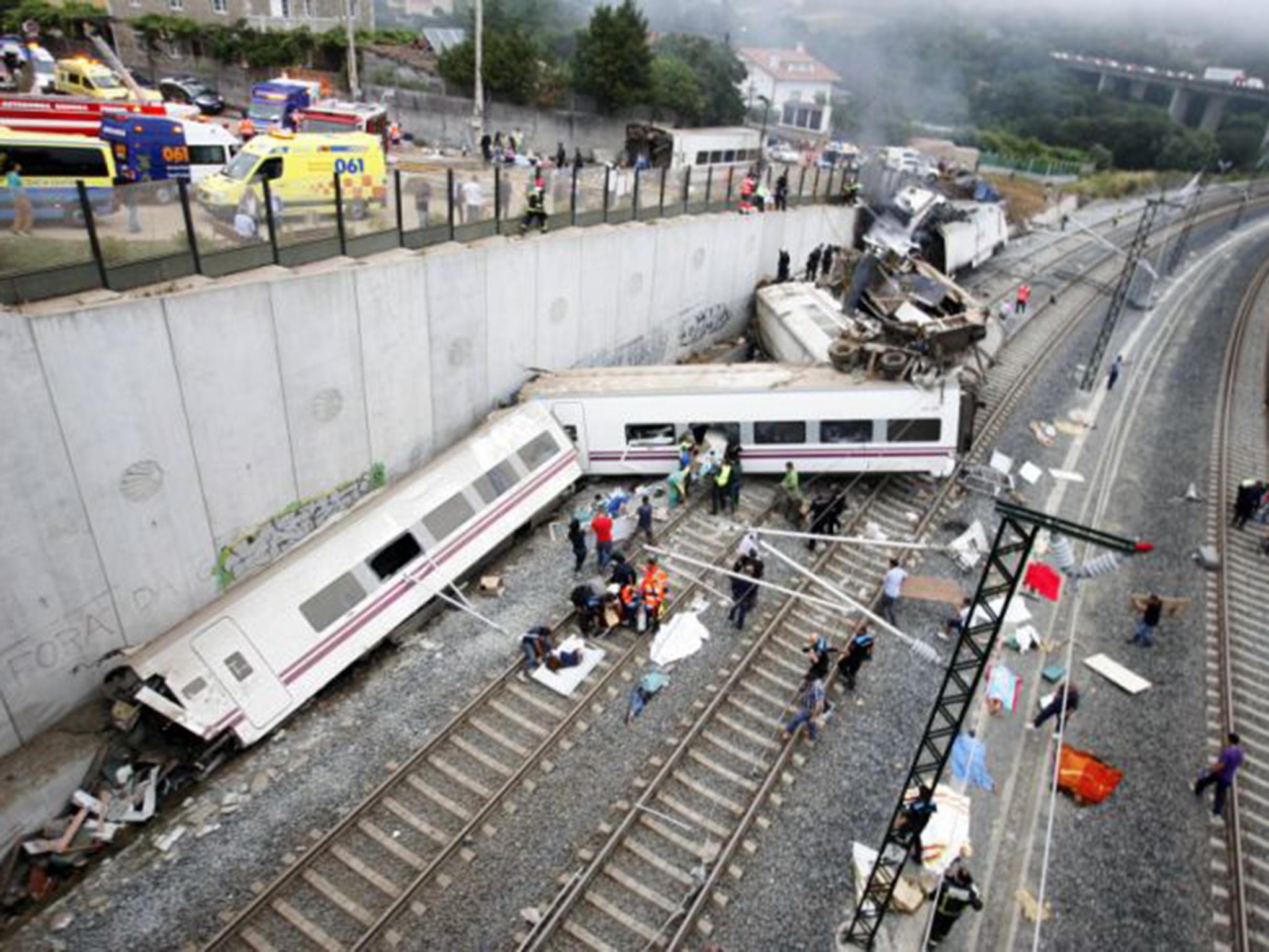 وقوع حادثه قطار در بارسلونا چهل و هشت زخمی برجای گذاشت