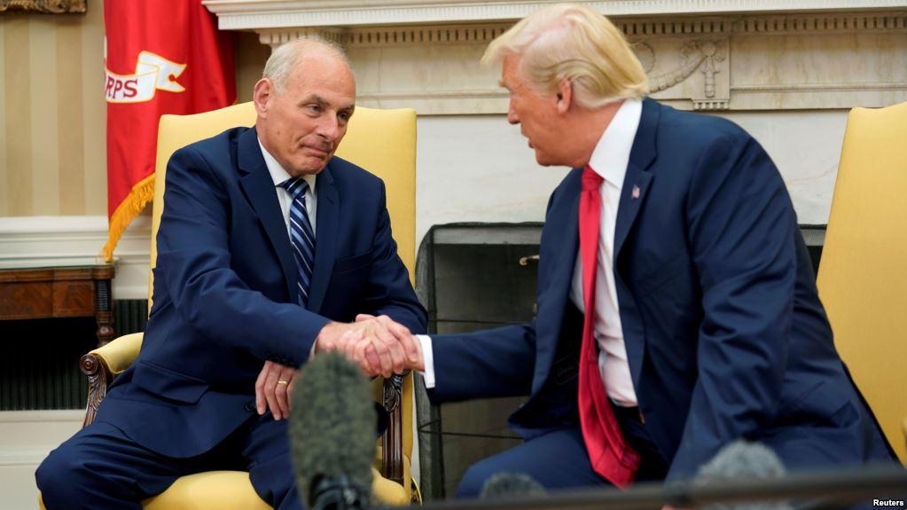 ژنرال جان کلی به عنوان رئیس جدید کارکنان کاخ سفید سوگند یاد کرد