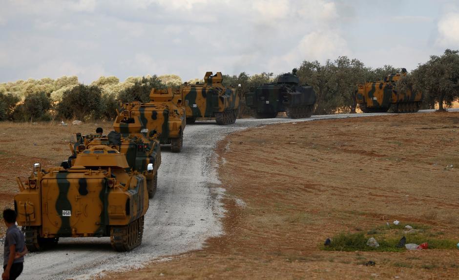 ورود اولین کاروان نظامی ترکیه به استان ادلب در سوریه