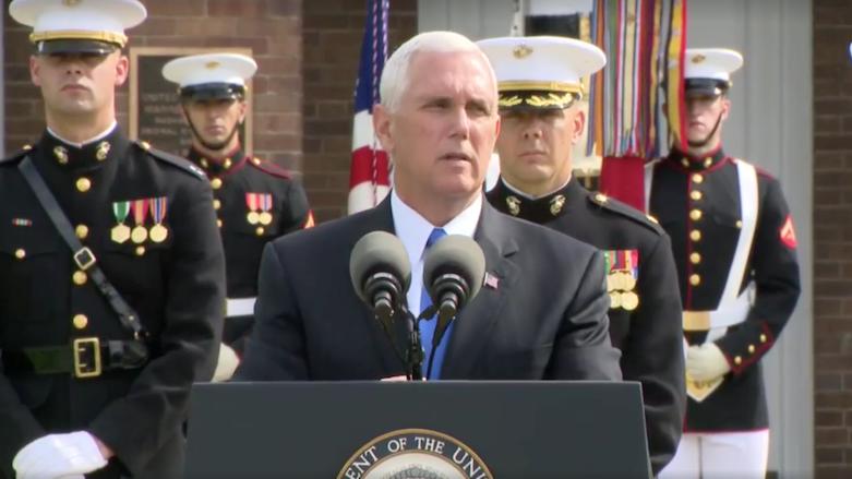 مایک پنس: در مقابل اقدامات تروریستی ایران و حزب الله لبنان سکوت نخواهیم کرد