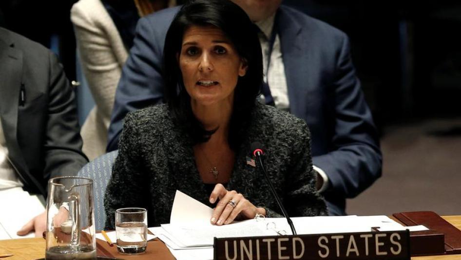 نیکی هیلی: ایران با ارسال اسلحه به حوثیها دو قطعنامه شورای امنیت را نقض کرده است