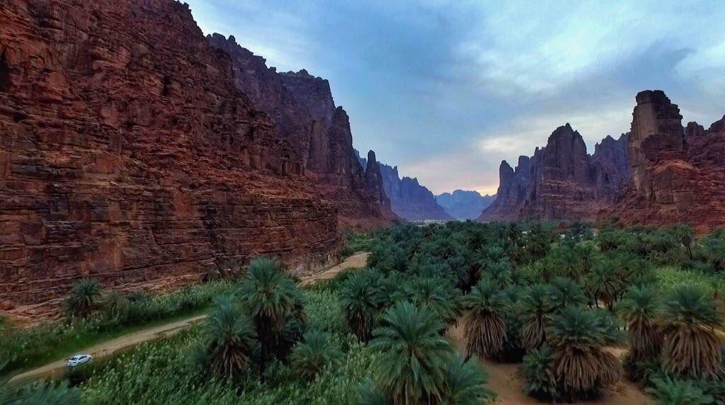 مناظر طبیعی الدیسه در مرکز شهر جدید التاسیس «نیوم» سعودی + تصاویر