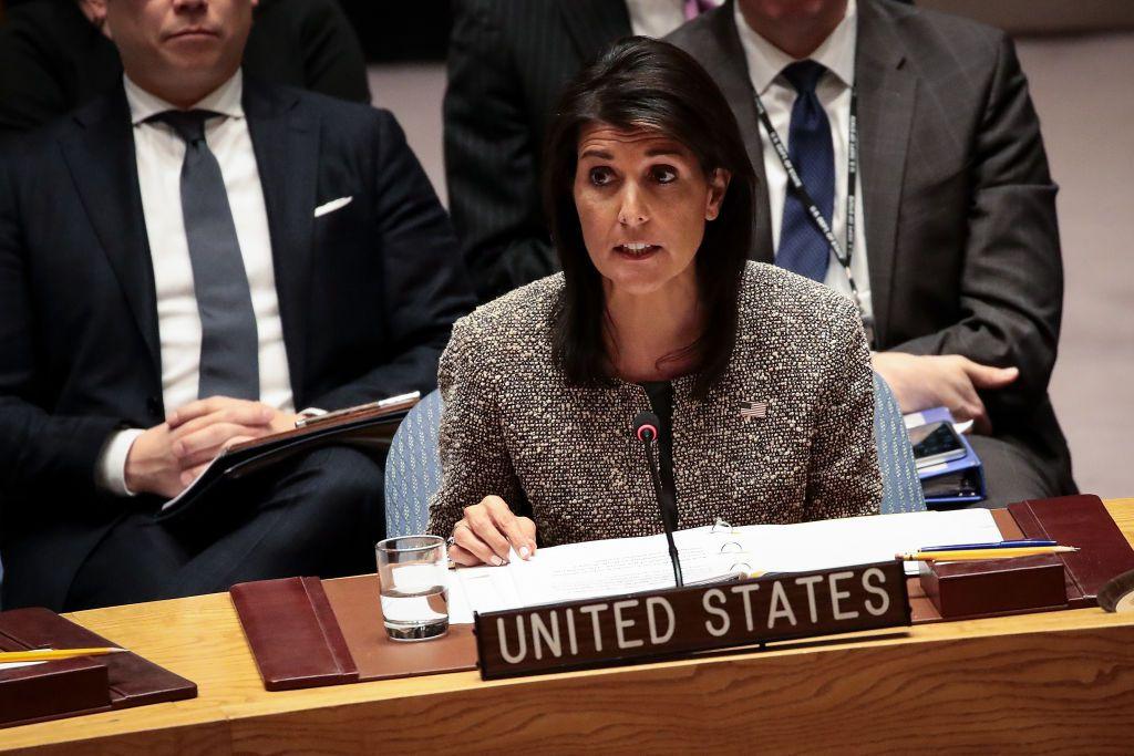 نیکی هیلی: درخواست جلسه اضطراری شورای امنیت درباره سرکوب مردم توسط جمهوری اسلامی داریم