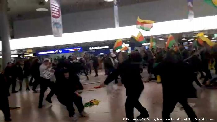 درگیریهای خشونت آمیز در آلمان بین ترکهای موافق دولت ترکیه و کردها