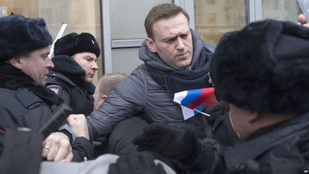 رهبر مخالفان پوتین در تظاهرات ضددولتی روسیه بازداشت شد