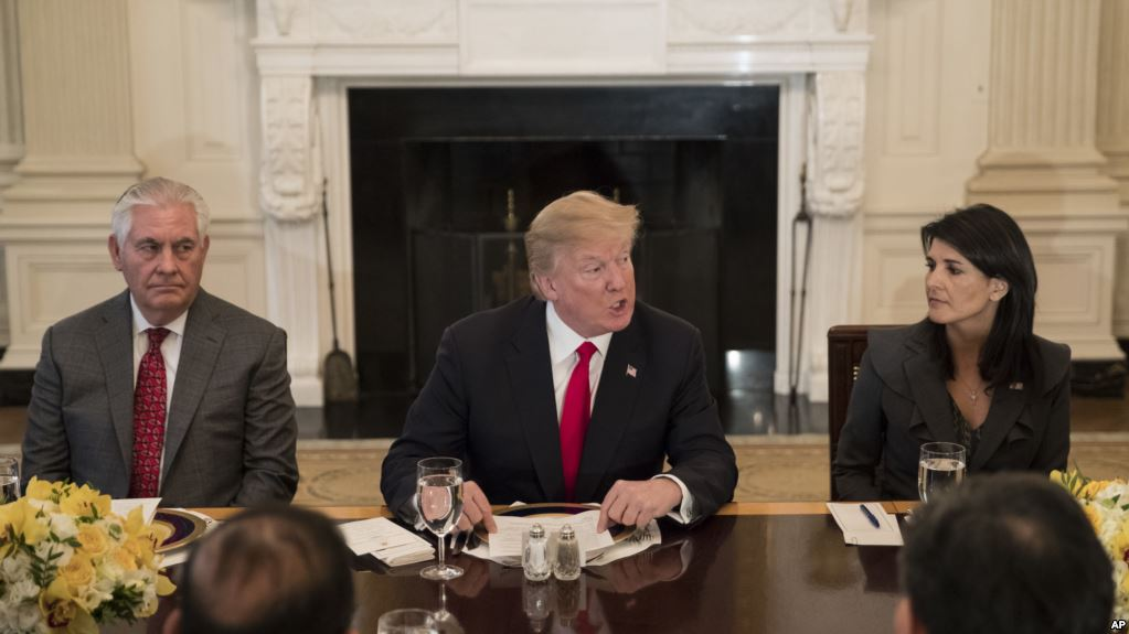 پرزیدنت ترامپ در جمع سفرای شورای امنیت: با کمک هم به جهان کمک میکنیم