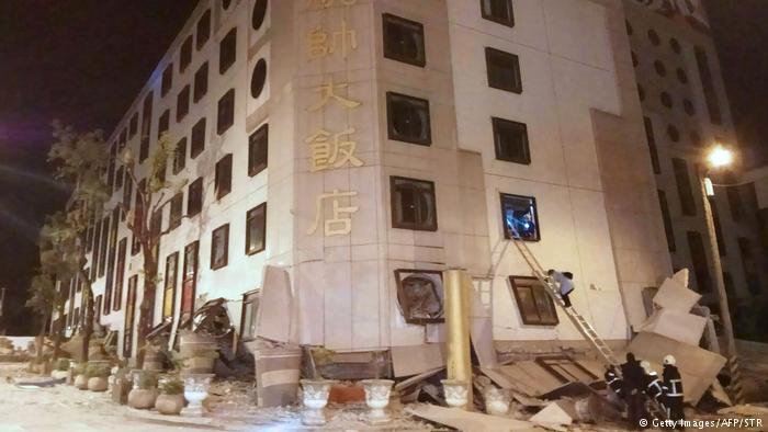 دستکم پنج کشته و صدها مجروح در پی زمینلرزهای در تایوان