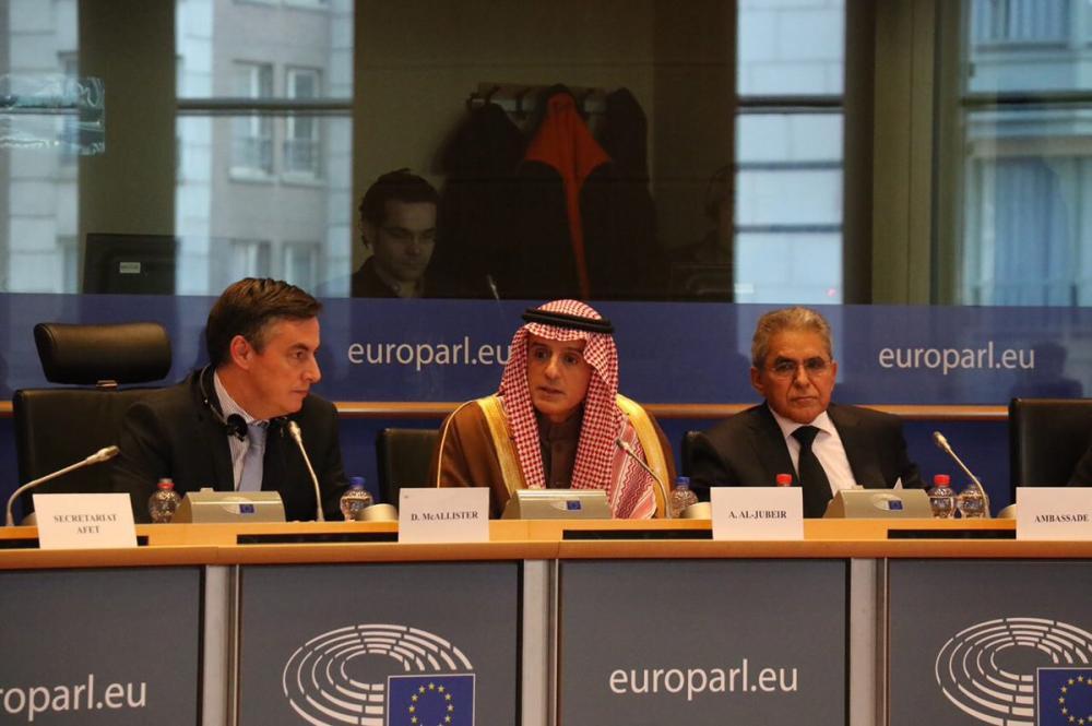 عادل الجبیر در پارلمان اروپا:حاکمان ایران باید بفهمند که دوران انقلاب تمام شد و ما با مردم ایران مشکلی نداریم