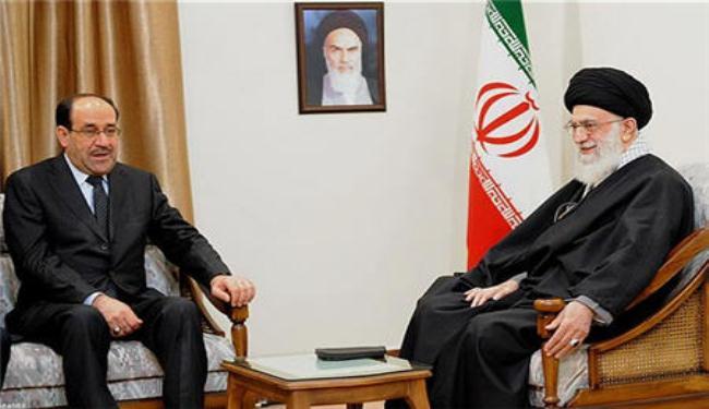 نوری المالکی نخست وزیر عراق برای بیعت مجدد با خامنه ای و جلب حمایت او به تهران سفر کرد