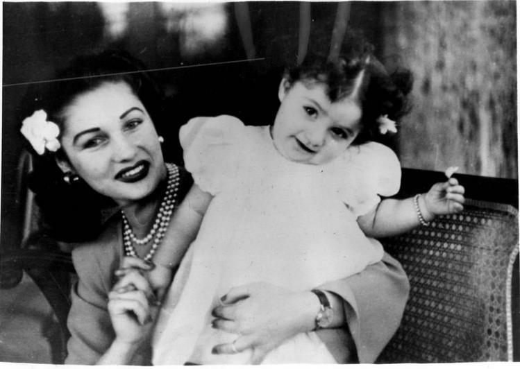شاهزاده فوزیه  خواهر ملک فاروق ودخترش شهناز
