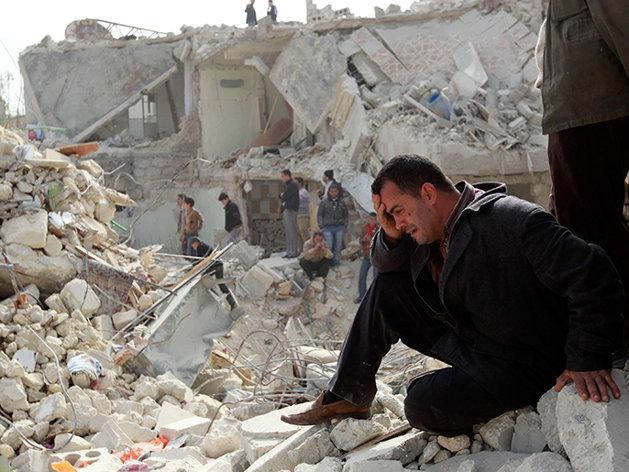 نیروهای اسد حلب را بمباران کردند؛ «بیش از صد تن» کشته شدهاند