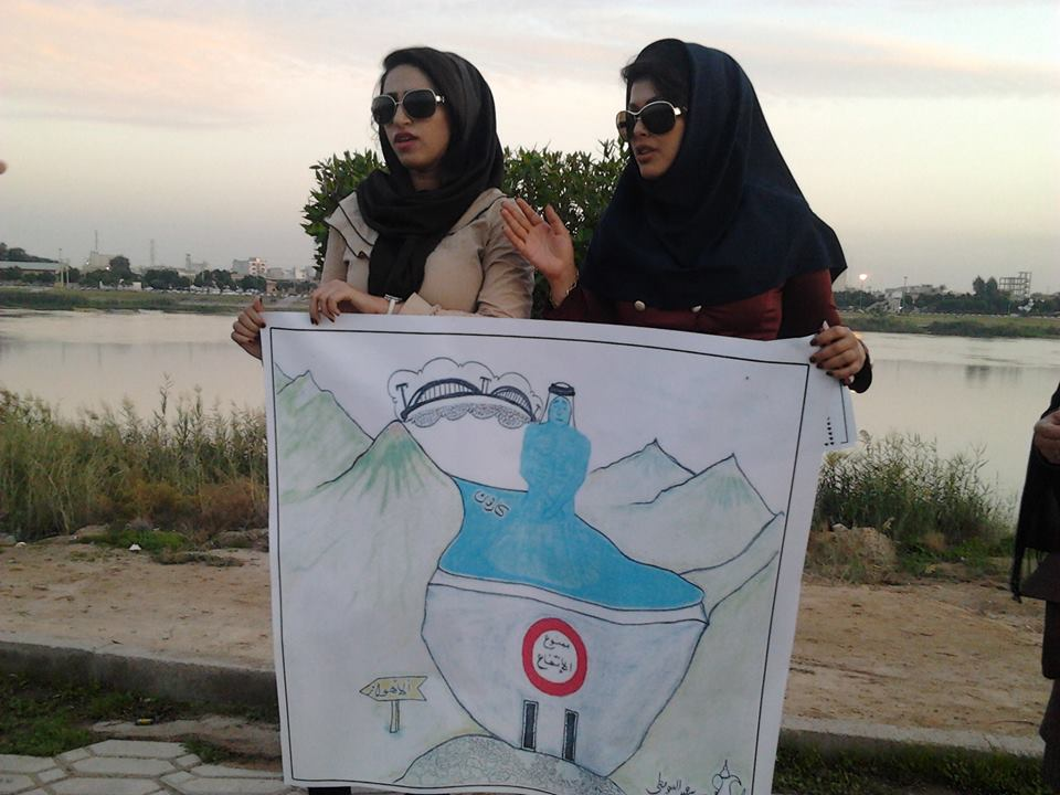 خوزستانی ها در زنجیره 28 آذر بار دیگر فریاد اعتراض سر دادند