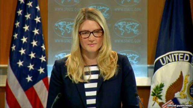 ماری هرف، معاون سخنگوی وزارت خارجه آمریکا.