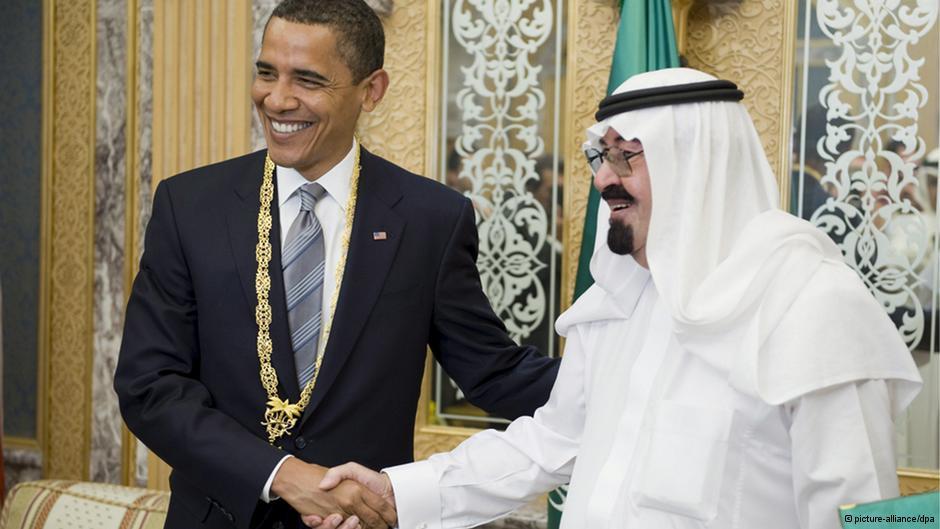 سفر باراک اوباما، رئیس جمهور آمریکا در سال ۲۰۰۹ به عربستان و دیدار با ملک عبدالله، پادشاه عربستان سعودی