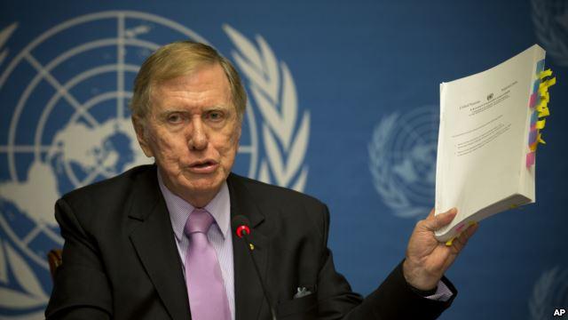 مایکل کربی، رئیس کمیسیون تحقیقات حقوق بشر سازمان ملل متحد، در یک کنفرانس خبری در مورد گزارش مربوط کره شمالی توضیحاتی ارائه داد.