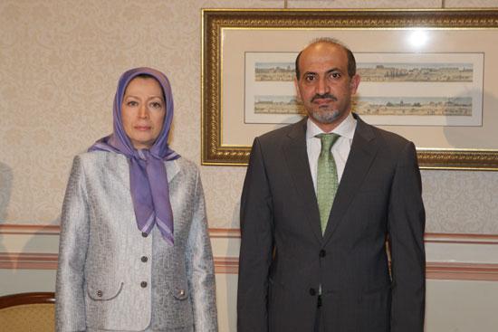 احمد الجربا رهبر ائتلاف میهنی سوریه با مریم رجوی دیدار وگفتگو کرد+ویدئو