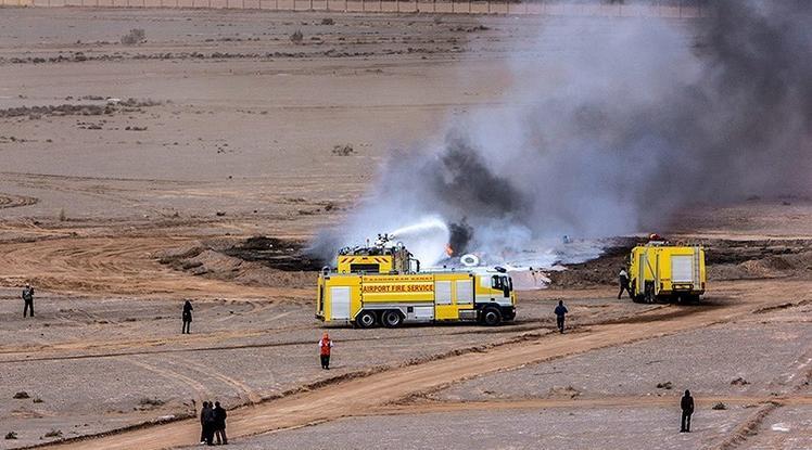 سانحه آتش سوزی برای هواپیمای سپاه پاسداران