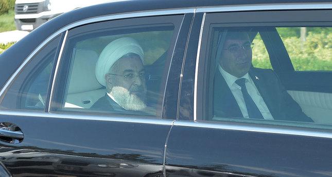 حسن روحانی رئیس جمهور ایران وارد ترکیه شد