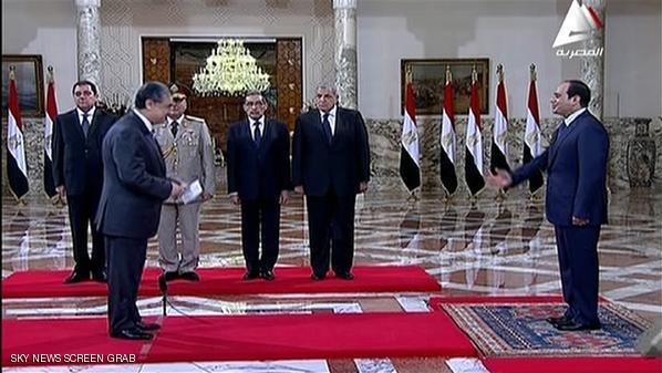 دولت جدید مصر در حضور السیسی رئیس جمهور جدید این کشور سوگند یاد کرد