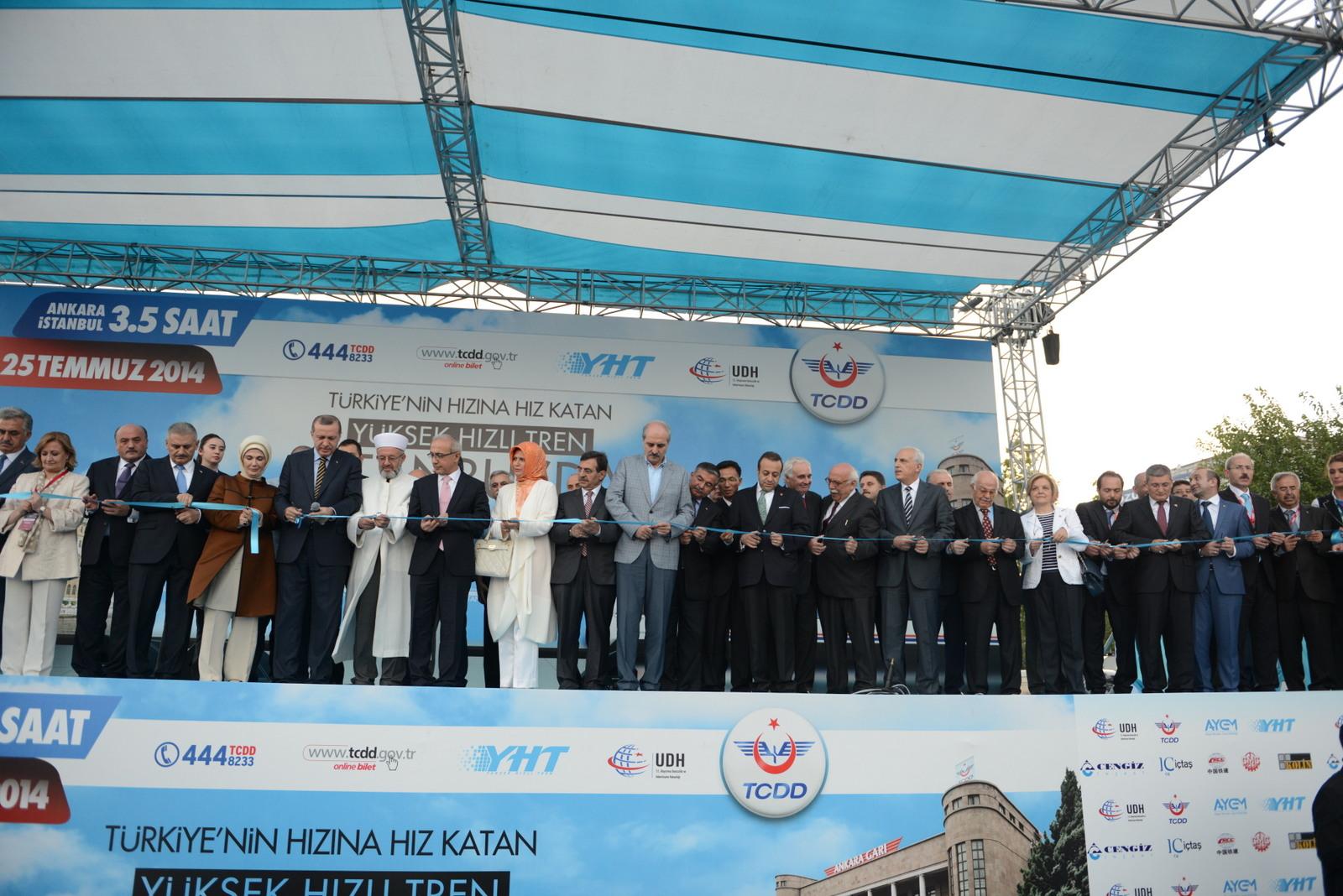 تحقق رویای 70 ساله مردم ترکیه با راه اندازی قطار سریع السیر آنکارا - استانبول+عکس