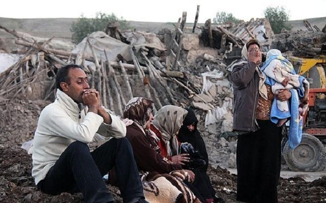 زلزله ۶.۲ ریشتری همراه با طوفان شن در غرب ایران