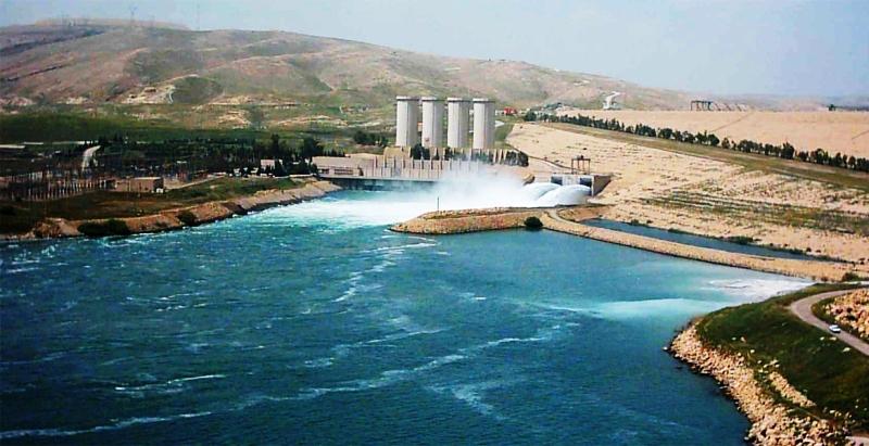 سد موصل بزرگترین سد عراق در کنترل کامل نیروهای پیشمرگه کردستان