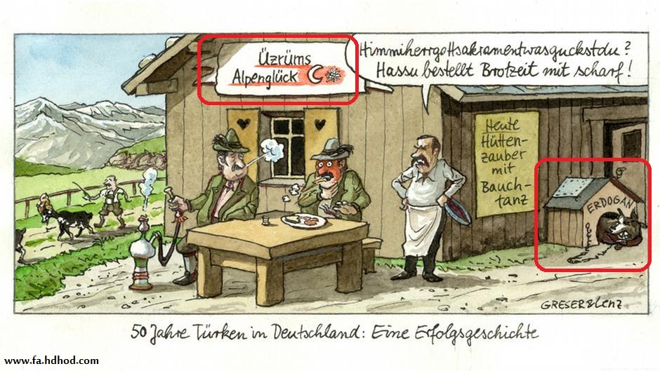 کاریکاتوری که خشم ترکها را بر افروخت و سفیر آلمان را به آنکارا کشاند