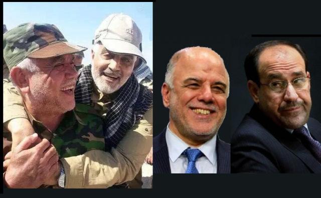 هادی العامری وزیر بد نام وغارتگر عراق و یکی از رهبران حزب الدعوه عراق در آغوش ژنرال سلیمانی