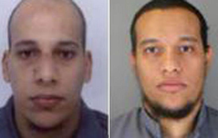 تصویری که پلیس فرانسه از سعید (راست) و شریف گواشی منتشر کرده است
