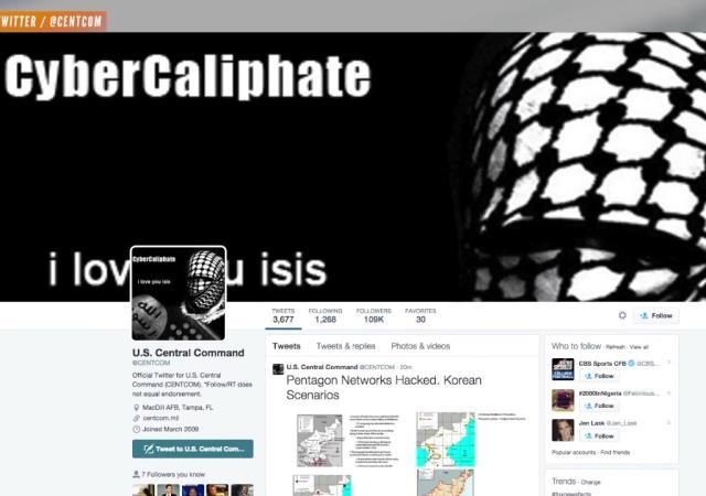 داعش ستاد فرماندهی مرکزی ایالات متحده آمریکا را هک کرد
