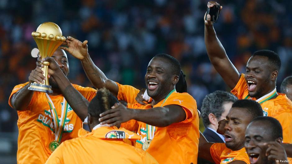 جشن ملیپوشان ساحل عاج از کسب قهرمانی آفریقا