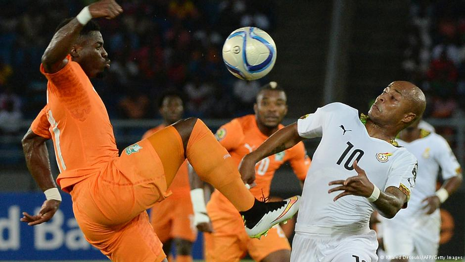 صحنهای از فینال جام ملتهای آفریقا میان سفیدپوشان غنا و تیم ساحل عاج
