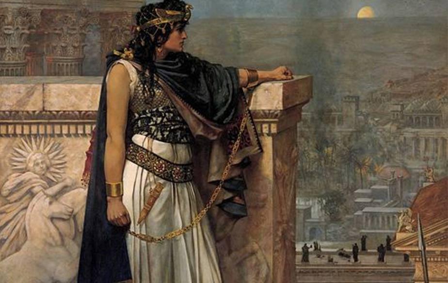 زنوبیا ملکه عرب تدمر که اسیر لشکر رومیان شد وبا زنجیرهای طلایی به رم منتقل شد