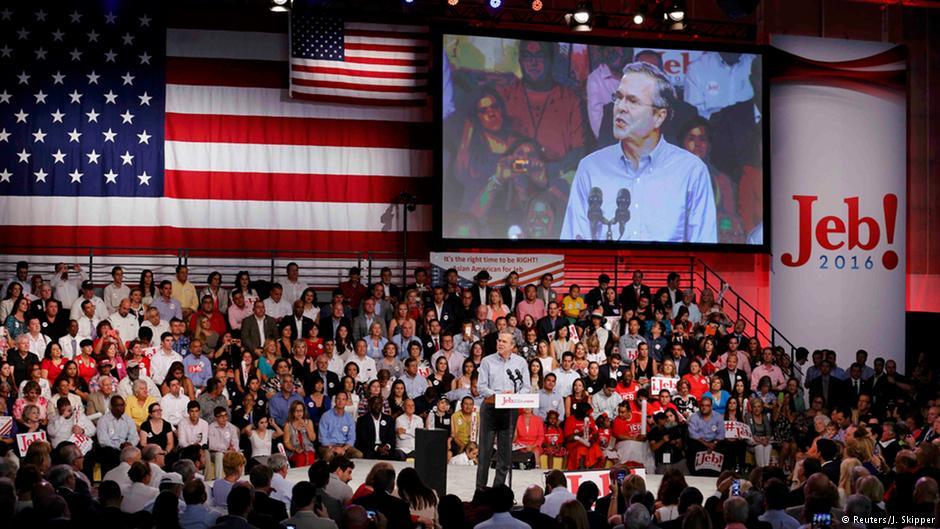 جب بوش دانشگاهی در میامی را برای اعلام رسمی نامزدی انتخاب کرده که به چندفرهنگی بودن و جذب دانشجویانی از ملیتهای گوناگون مشهور است