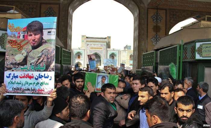 تشییع جنازه پنج افغان کشتهشده در سوریه در مشهد